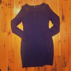 Express Navy Blue Party Dress